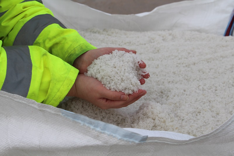 Leicester salt gritting