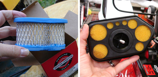 petrol lawnmower air filter